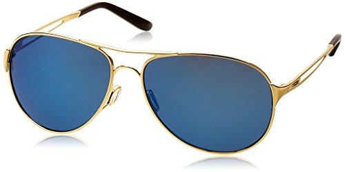 Oakley Damen Caveat Aviator Sonnenbrille, Polished Gold/Ice Iridium (S3)/Ice Iridium (S3)