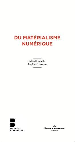 Du matérialisme numérique
