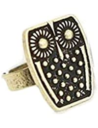 Bold N Elegant Vintage Retro Owl Ring Finely Crafted Ancient Finish Oxidzed Owl Finger Ring Trendy Adjustable...