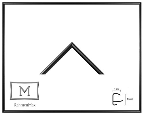 Iowa Kunststoff-Bilderrahmen 42x60 cm Posterrahmen 60x42 cm Farbwahl jetzt: Schwarz Matt mit 1 mm Acryglas klar