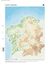 Mapa físico Galicia (Mapas mudos)