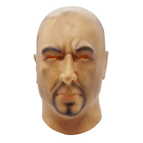 HAORONG Deluxe Halloween Vollkopf Latex Maske Glatzkopf Party Geschenk.