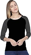 So Sweety Printed Women's Round Neck Black Multicolor T-Shirt/Long Sleeve/Branded T Shirt