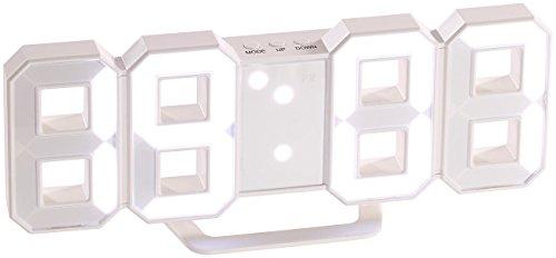 Lunartec Led Wanduhr 3d: Große Digital Led Tisch  U0026 Wanduhr, 7 Segmente,  Dimmbar, Wecker, 21 Cm (Jumbo Led Uhr) | Comparee   Global Price | Review |  Postage ...