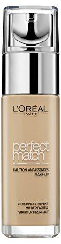 L'Oréal Paris Foundation Perfect Match, deckendes Make Up - perfekte Verschmelzung mit dem Hautton...