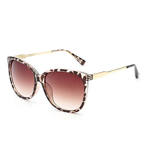 Macxy - Stern-Art Weibliche Sonnenbrille Frauen übergroße Sonnenbrillen Vintage-Außen Sunglass Oculos de sol [Leopard]