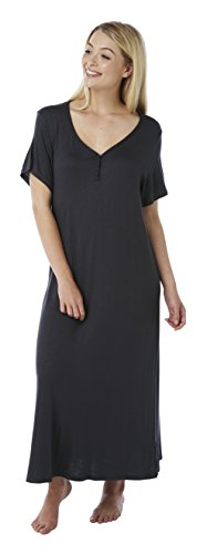Indigo Sky Ladies Long Plus Size Jersey Nightshirt. Black Sparkle, Charcoal, Oatmeal, Coral. Sizes 14-16 To 30-32