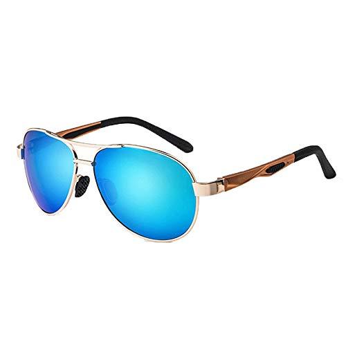 Yiph-Sunglass Sonnenbrillen Mode Sonnenbrillen Outdoor Sports Radfahren Anti-UV-Rahmen Golf Fahrrad Angeln Frauen Strand Sonnenbrillen mit Aluminium Magnesium (Farbe : One Color, Größe : Free)