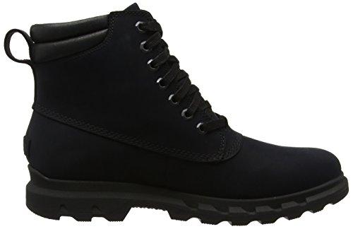 Sorel Portzman Lace, Bottes de Neige Homme Noir (Black/black)