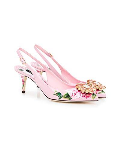 Dolce & Gabbana Pumps aus bedrucktem Lackleder, Pink (Rose), 36 EU
