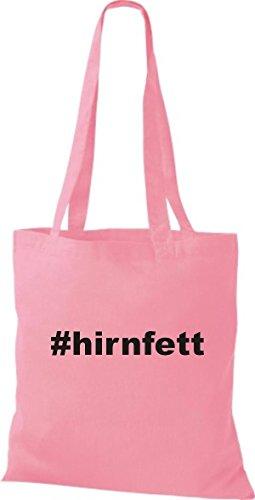 Shirtstown Stoffbeutel Hashtag # Hirnfett Rosa