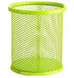 Doyeemei Circulaire en métal Creux Rose Corbeille à Papier léger, Green*