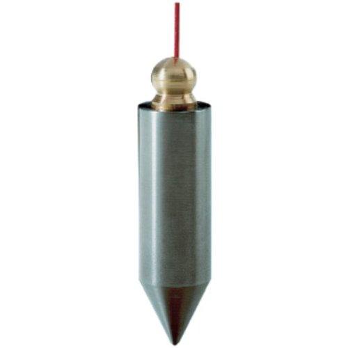 Senklot 200g zyl.Form Stahl m.Messingknopf