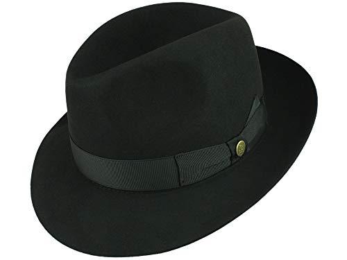 Guerra Homme Chapeau Fedora Castorlux noir