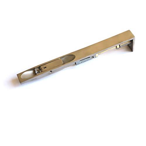 TOGU JZBXGCX 20,3 cm massiver Edelstahl Hebelmechanismus bündig verdecktes Sicherheitsschloss für Verbundtüren, Französische Türen, Holztüren, Doppeltüren, Schnullertüren, Bürsten-Edelstahl-Finish -