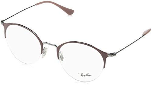 Ray-Ban Unisex-Erwachsene Brillengestell 0rx 3578v 2907 50, Grau (Gunmetal/Turtledove)