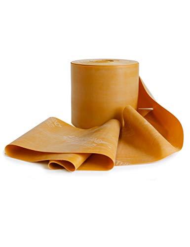 FTM Thera-Band® in Gold, Übungsband und Fitnessband von der Rolle geschnitten in Wunschlänge. Gymnastikbänder für Krafttraining, Physiotherapie, Krankengymnastik und Fitnessstudios. (5 Laufmeter)