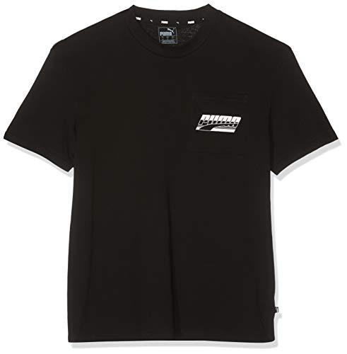 Puma Herren Rebel Pocket Tee T Shirt, Cotton Black, S -