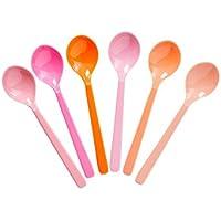 Melamin Kleine Löffel Pink und Orange Töne 6er Set