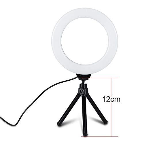 Led Video Dimmbare Kalte Warme Geführte Studio-Kamera-Ring-Licht-Foto-Telefon-Video-Licht-Lampe Mit Stativ-Ring-Tabellen-Füllungs-Licht - 64 Tabelle Lampe