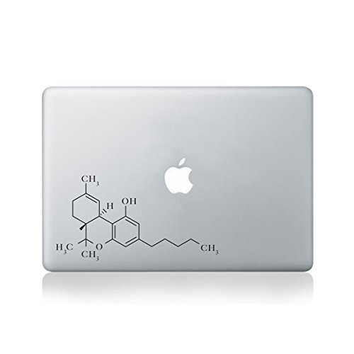 Vinyl-Aufkleber für MacBook 33 cm (13 Zoll) / MacBook/Laptop/Gitarre (Molecular Structure of THC)