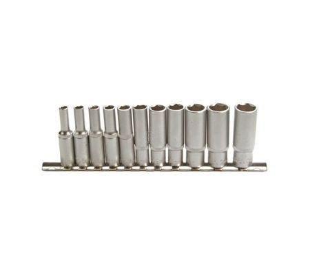 """BGS 2222 - Juego de piezas de llaves de vaso largas 10mm (3/8\"""") 8-19mm, 11 unidades"""