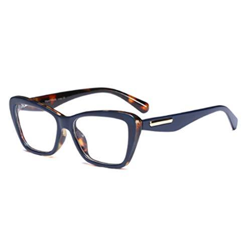 MUCHAO Mode Retro Weibliche Nerd Brille Platz Großen Rahmen Große Transparente Linse Lesen Alten Spiegelrahmen Gläser