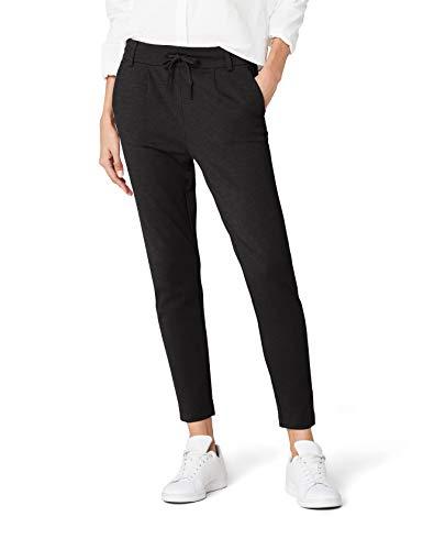 ONLY Damen onlPOPTRASH EASY COLOUR PANT PNT NOOS Hose, Grau (Dark Grey Melange), 40/L32 (Herstellergröße: L)