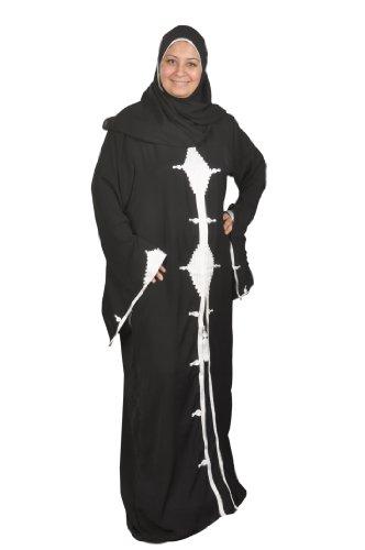Orientalische-Islamische Kleidung Abaya im Islamic Style in schwarz Größe: 4XL