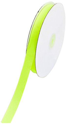 Creative Ideas 50-Yard Solid Grosgrain Ribbon, 5/8-Inch, Neon Yellow by Creative Ideas