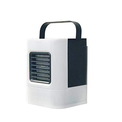 Preisvergleich Produktbild Feitb Tragbarer Persönlicher Luftreiniger, Mobile Klimaanlage,  Klimagerät,  Kühlschrank,  Luftkühler,  Klima Ventilator,  Klima Anlage,  3 Geschwindigkeitsstufen,  Stummschaltung,  Wassertank:460 ml (Weiß)