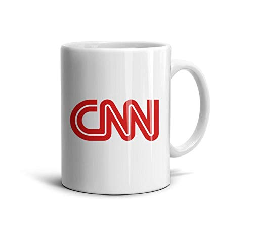 Kaffeetasse mit CNN-Logo, Herz-Wolf, 312 ml, tolles Geschenk One Size CNN Logo