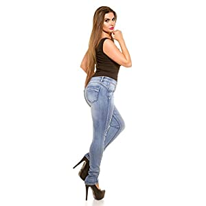 CURVY GIRLS SIZE! TRENDY JEANS USED LOOK