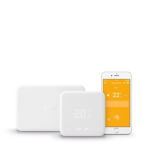 tado° Smartes Thermostat Starter Kit V3 für Einfamilienhäuser mit eigener Heizungsanlage V3 - Intelligente Heizungssteuerung, kompatibel mit Amazon Alexa, Apple HomeKit, Google Assistant, IFTTT