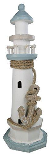 khevga Leuchtturm Deko aus Holz - 30 cm hoch