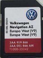 Preisvergleich Produktbild Die Neueren VW Skoda Sitz RNS 315 Amundsen V9 SD Card UK West Europe Map Update 17 / 18