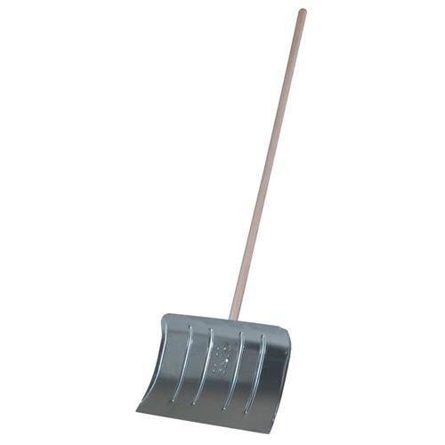 Stahl-Schneeschieber Blattmaß 50x35cm Stiellänge 135cm mit Schnittkante
