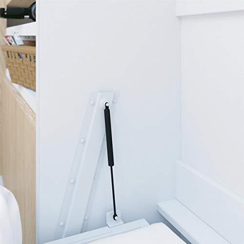 Schrankbett 160×200 weiss mit Gasdruckfedern, ideal als Gästebett – Wandbett, Schrank mit integriertem Klappbett, SMARTBett - 4