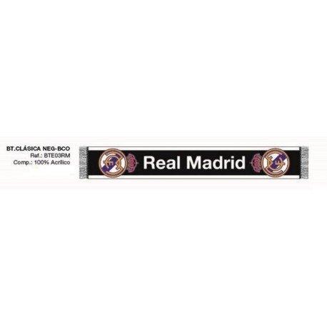 BUFANDA OFICIAL REAL MADRID BLANCO 2016 120X20CM