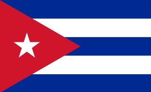 Etaia 7x10 cm (Mittlere Grösse) Auto Aufkleber Fahne Flagge von Kuba Cuba Länder Sticker Fürs Auto Motorrad (Kleine Rebellen-fahnen)