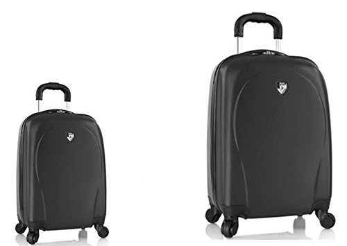 PREMIUM DESIGNER Hardside Luggage set 2 pcs. - Heys Core XCase Spinner Black Hand Luggage+ Trolley with 4 Wheels Medium 470574031&Core&144+145 (Hardside Gepäck Samsonite)