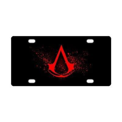 """Preisvergleich Produktbild Snowy Custom Assassin's-Creed Metal Auto License Plate Frame Car Tag Holder Tag 6"""" X 12""""(New)"""