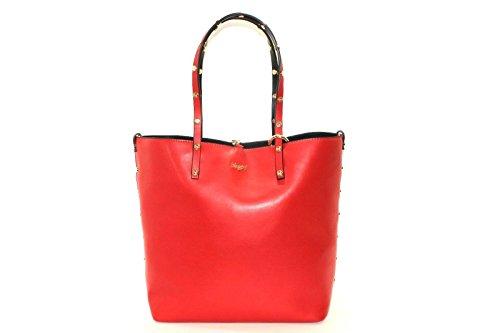 Borsa Blugirl reversibile rossa con manico con borchie NEW COLLECTION AI 201718 (K)