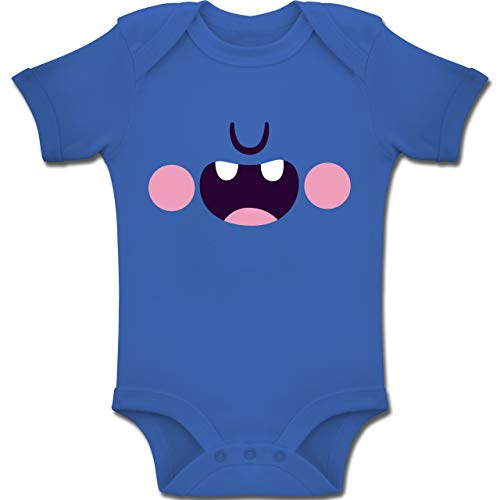 Shirtracer Karneval und Fasching Baby - Monster Verkleidung Karneval - 3-6 Monate - Royalblau - BZ10 - Baby Body Kurzarm Jungen (Die Schöne Und Das Biest Kostüme Für Jungen)