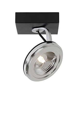 Lucide xentrix--Foco de Techo 11cm de diámetro-LED DIM.-1x 12W 2700K-Negro, aluminio, negro,...