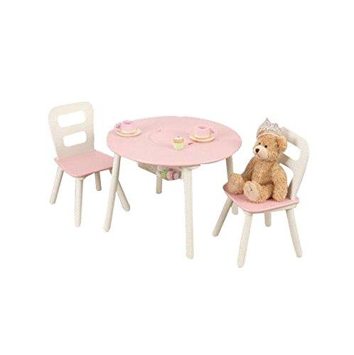 Kinder Praktische Runder Tisch und Stuhl Set–mit viel praktischer Stauraum–in zwei Farben rose Aktivität Runde Tisch