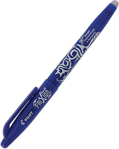 Pilot Frixion - Bolígrafo de tinta (trazo de 0,4 mm, tinta borrable), color azul, 12 unidades
