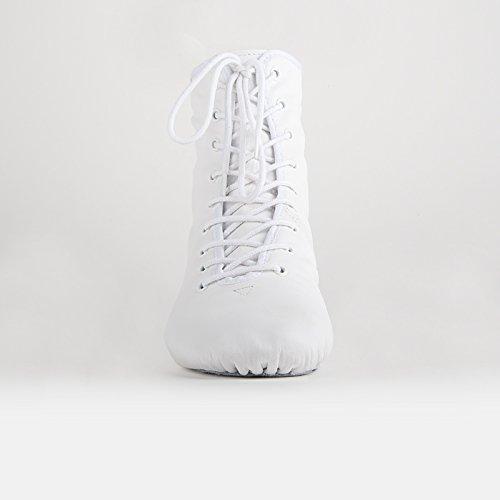 Rumpf 4127 Gardestiefel hoch geteilte Chromledersohle Leder Karneval Stiefel Weiß