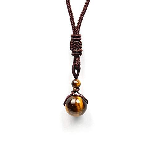 GOOD.designs ® Halskette mit echter Naturstein - Tigerperle | Energiehalskette in Gold goldfarbenekette goldenehalskette halskettegold goldenerdamenschmuck damenhalskette frauenhalskette