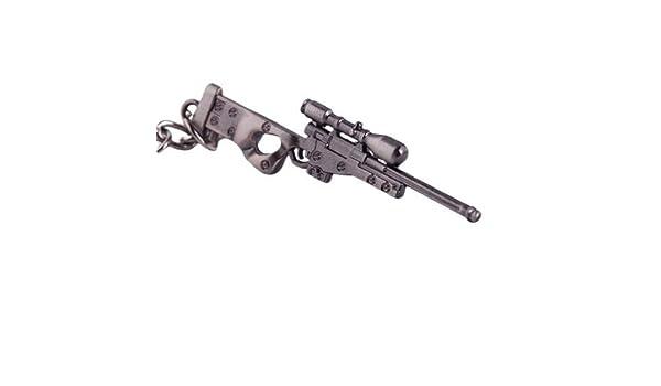 PSL 1 x Mini Militare AWM Sniper Arma Pistola Modello Metallo Ciondolo Portachiavi
